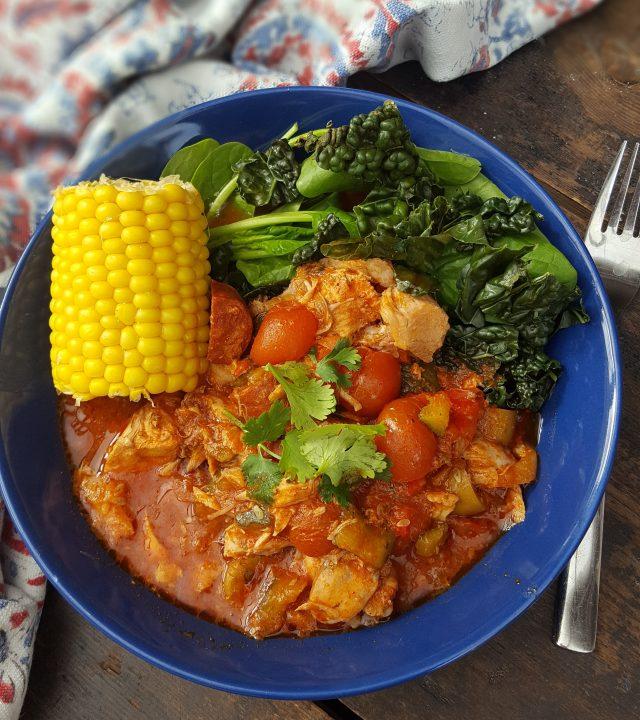 slow cook spanish chicken