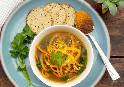 Warming Spiced Butternut Noodle Soup
