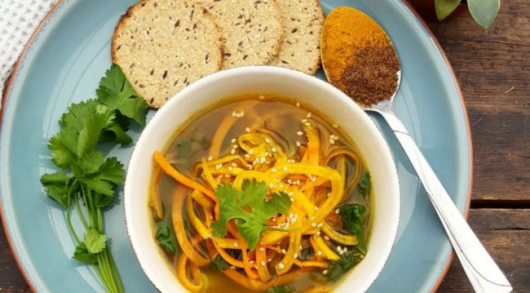 Warming Spiced Butternut Noodle Soup