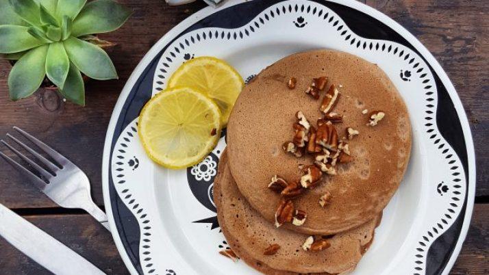 Fluffy pecan pancake